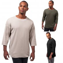 Urban Classics T-Shirt Herren Thermal Boxy Look Kurzarm...