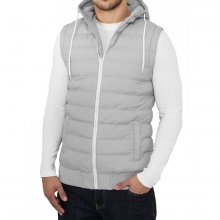 Urban Classics Herren Kapuzen Stepp Bubble Hooded Weste...