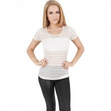 Urban Classics T-Shirt Damen Semi Transparent Scuba...