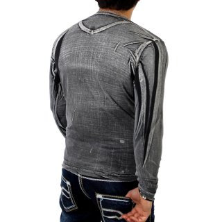 Cipo & Baxx C-5368 Longsleeve Long Shirt Anthrazit