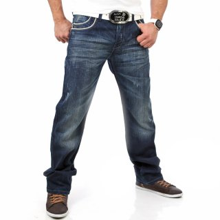Cipo & Baxx C-807 Pipes Style Jeans Blau