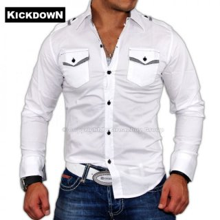 Kickdown Party Club Hemd 875, wei�