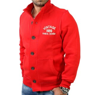 R-Neal RN-9321 Vintage Button Style Jacke Rot