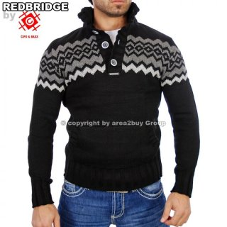 Red Bridge R-7111 Grob-Strick Pullover schwarz