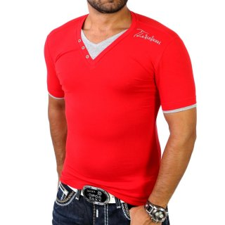 Redbridge R-1544 Layer Style V-Neck T-Shirt Rot