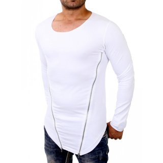 Redbridge Sweatshirt Herren Asymetric Mesh Zipper Longsleeve RB-2004