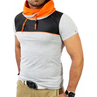Reslad Herren Huge Collar T-Shirt RS-1174