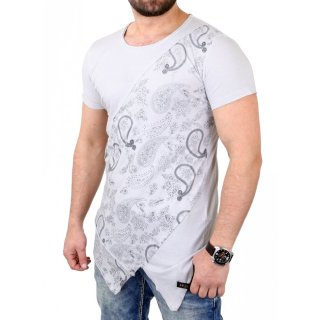 Tazzio T-Shirt Herren Cross-Cut Oversized Bandana Pattern Shirt TZ-15134