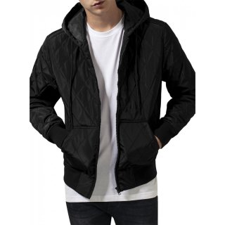 Urban Classics Jacke Herren Hooded Big Diamond Quilt TB-1466 Schwarz