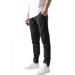 Urban Classics Jogginghose Herren Acid Washed Biker Sweatpants TB-1134 Schwarz