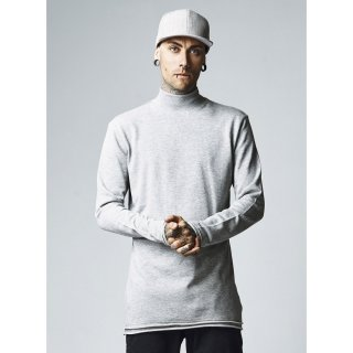 Urban Classics Sweatshirt Herren Long Open Edge Turtleneck Crew TB-1388