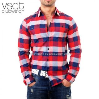 VSCT Club Big Karo Hemd V-0240 Rot