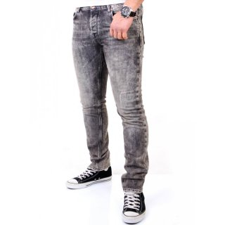 VSCT Herren Jeans Anthony Slim Fit 5-Pocket Hose V-5641228 Schwarz