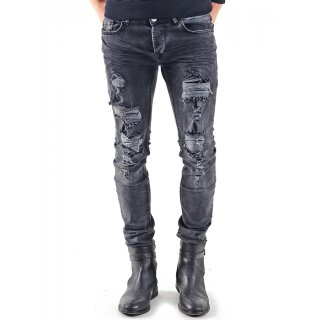 VSCT Jeans Herren Keno Rock Heavy Destroyed Look Jeans-Hose V-5641831 Schwarz