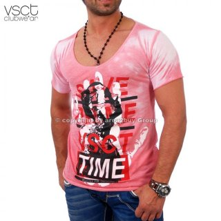 Vsct Magic Touch Tee V-5640533 Party Club T-Shirt Pink