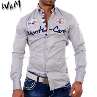 WAM WM-555 Designer VIP Club Party Hemd Grau