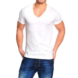 Wasabi Wsb-1246 Party Club Style V-Neck T-shirt wei�