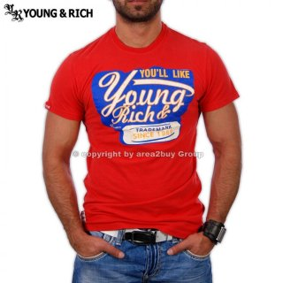 Young&Rich YR-7012 Party Club T-Shirt Rot
