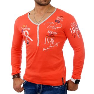 redbridge R-1643 Feinstrick Pullover Longsleeve Orange