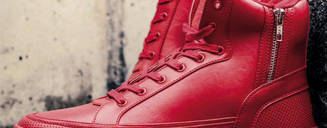 Rote High Sneaker für Herren voll im Trend