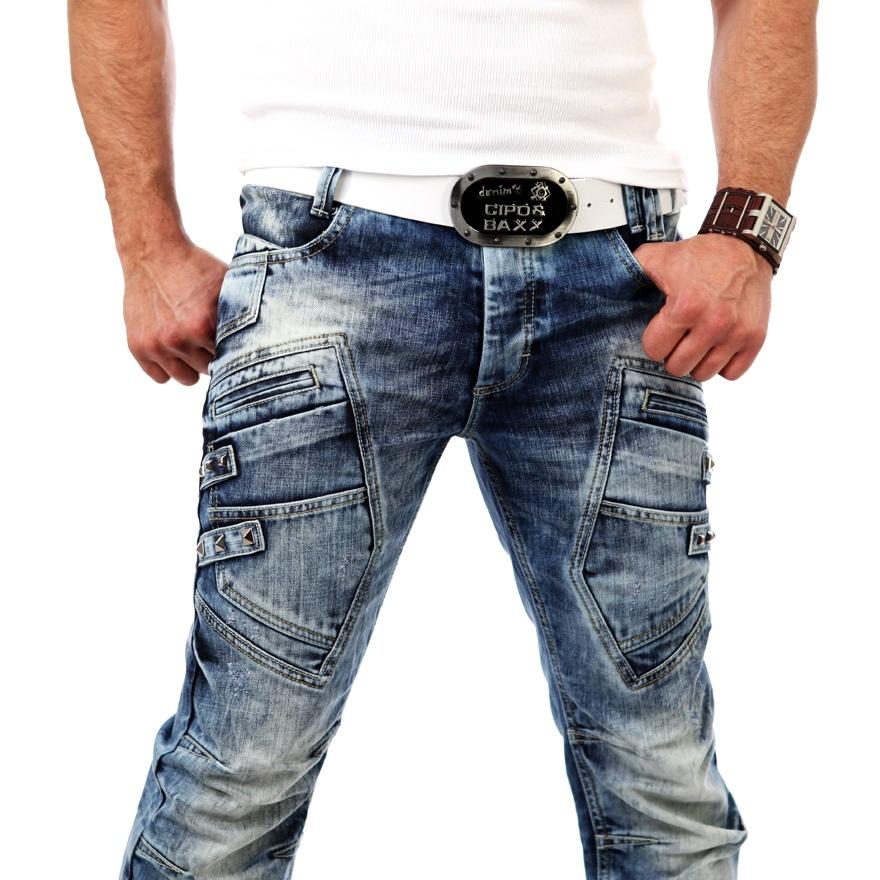redbridge by cipo baxx clubwear jeanshose herren jeans blue rb 3001 nieten neu ebay. Black Bedroom Furniture Sets. Home Design Ideas