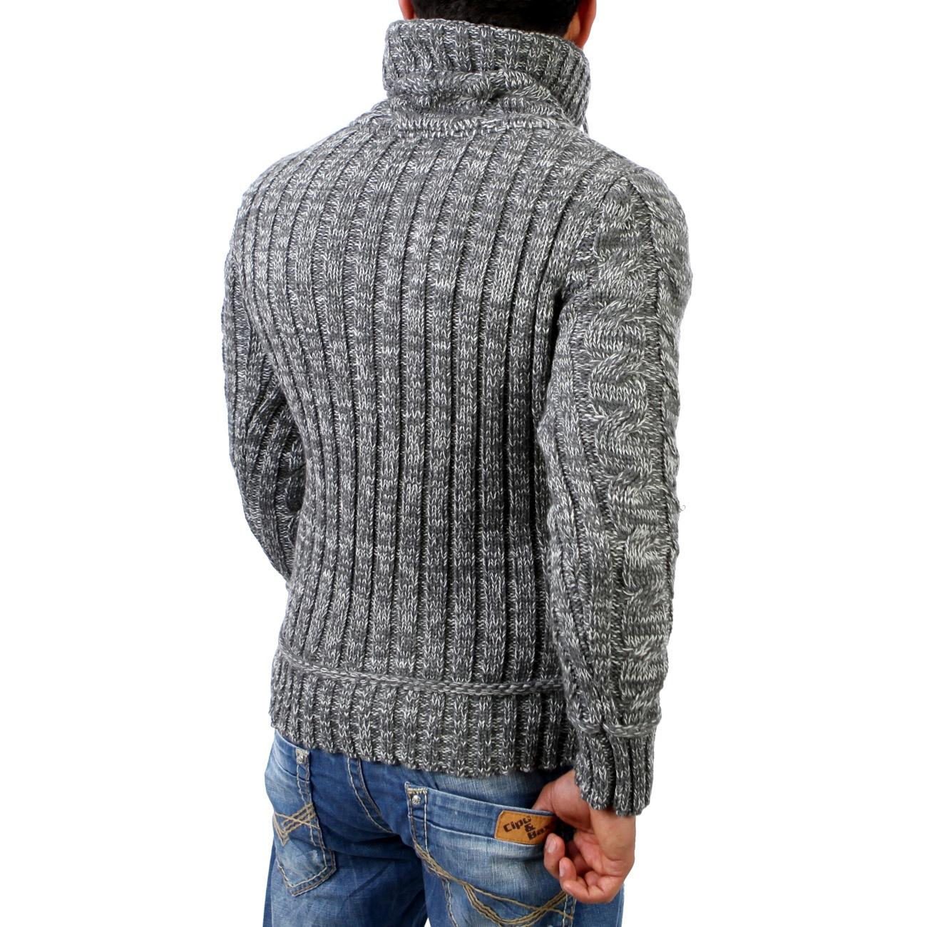 reslad hoher kragen pullover grobstrick pulli strick jacke. Black Bedroom Furniture Sets. Home Design Ideas