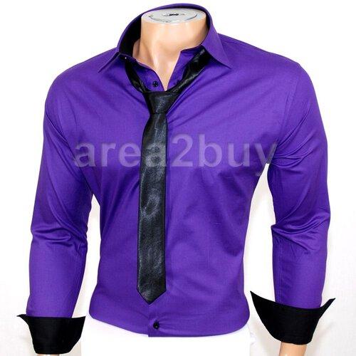 quality design ea0a9 b7d3c Golden Horn Hemd tailliert, 699 lila