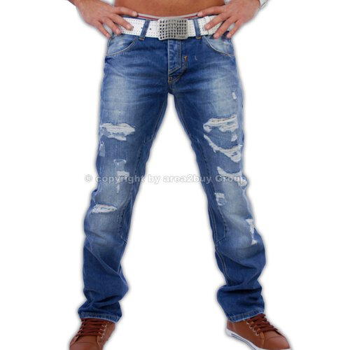 Amica A-9611 destroyed look blue Jeans blau W34 / L34 3080-3