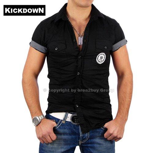 Herrenhemd Kurzarm Kickdown 037 | Männerhemden günstig
