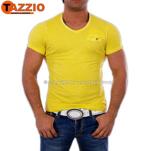 b33fb837ac64fd Tazzio TZ-1063 Party Club T-Shirt Gelb ...