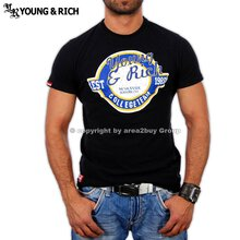 Young&Rich YR-7010 College team T-Shirt Schwarz