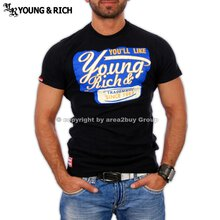 Young&Rich YR-7012 Party Club T-Shirt Schwarz