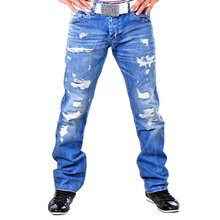 Redbridge RB-157 Destroyed Blue Jeans, blau