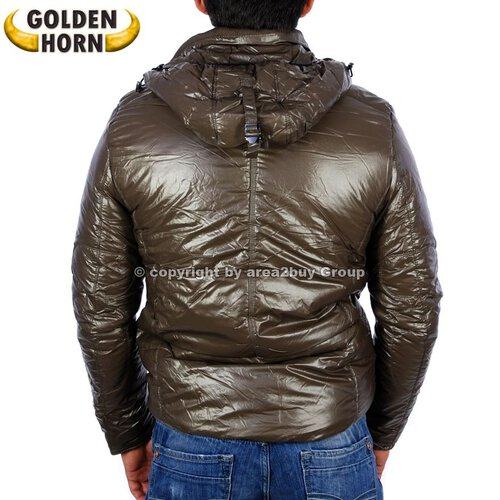 Golden Horn GH-GZ103 Glossy Look Winter Jacke Braun