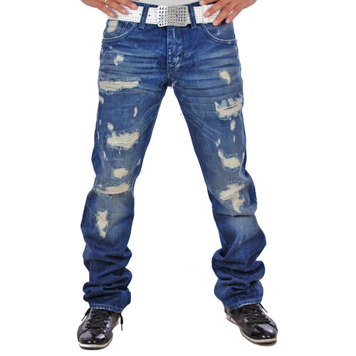 Redbridge RB-162 Destroyed Dark Blue Jeans Blau
