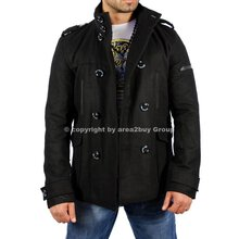 Redbridge R-5002 Winter Mantel Jacke Trenchcoat Schwarz
