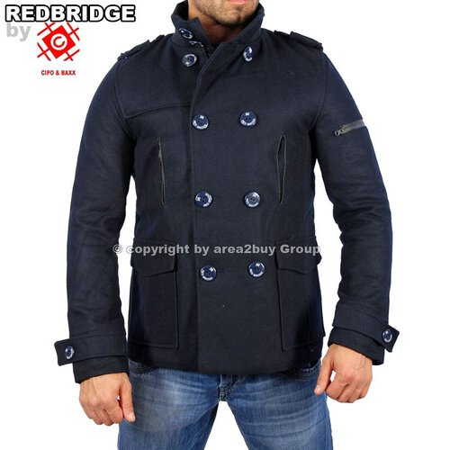 Redbridge R-5002 Winter Mantel Jacke Trenchcoat Navy Blau
