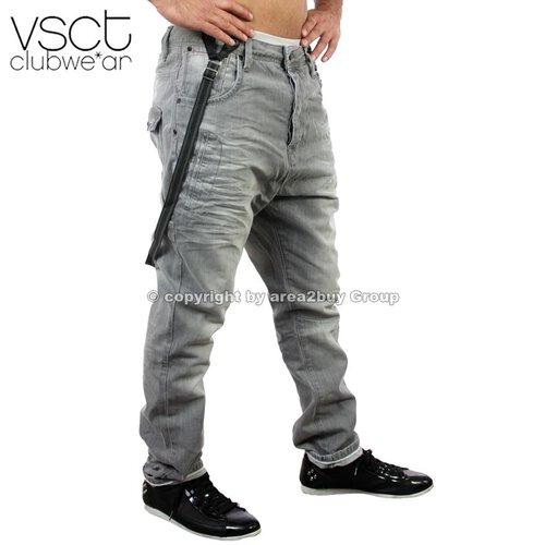 VSCT Jeans mit Hosenträger Grau 0199   Herren Jeans günstig 6e7af47940