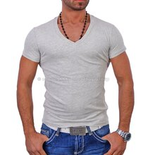 Wasabi WSB-1246 V-Neck Party Club T-Shirt Grau