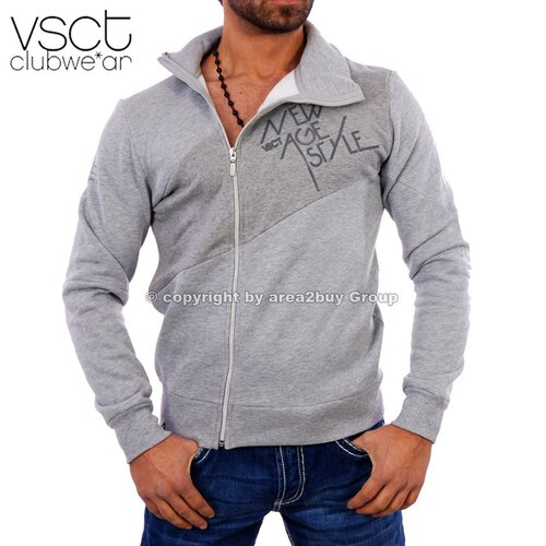 Vsct V-5640280 Party Club Zipper Sweatjacke Original Grau