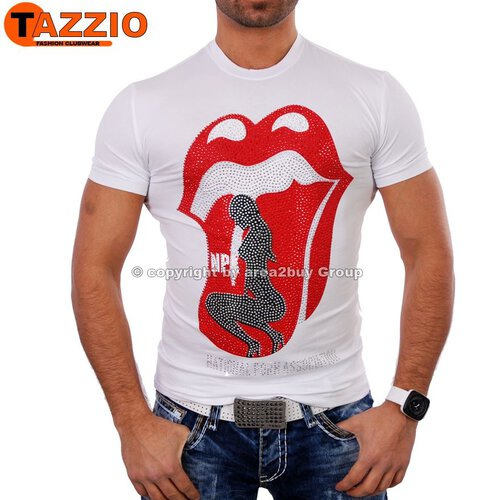 Tazzio TZ-4012 NPA Party Klassiker T-shirt weiß