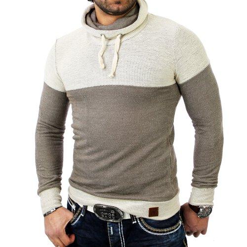 area2buy DE Emimay Herren Huge Collar Pullover EM-1121