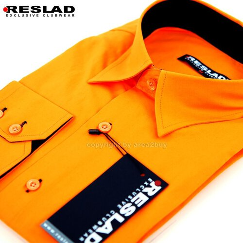 Reslad RS-7005 Vancouver Party Club Kontrast Hemd Orange