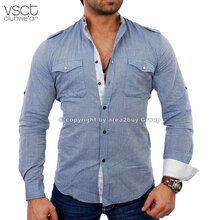 Vsct V-5640395 Party Club Style Sommer Hemd blau