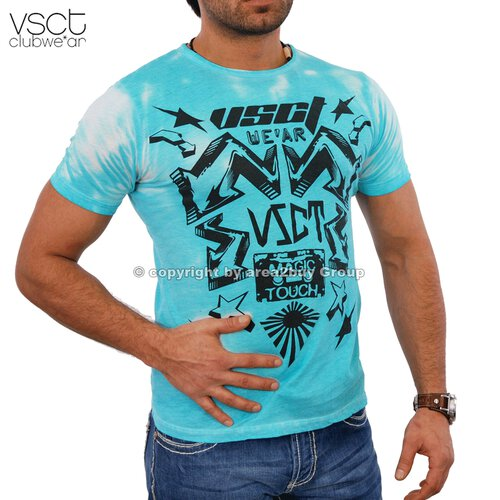 Vsct V-5640404 Magic Touch T-shirt Türkis