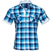 Herren Designer Hemd Türkis Blau in sich gemustert, Besonderes Hemd Slim Fit : | eBay