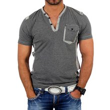 Reslad Herren Striped Optik T-Shirt 4005