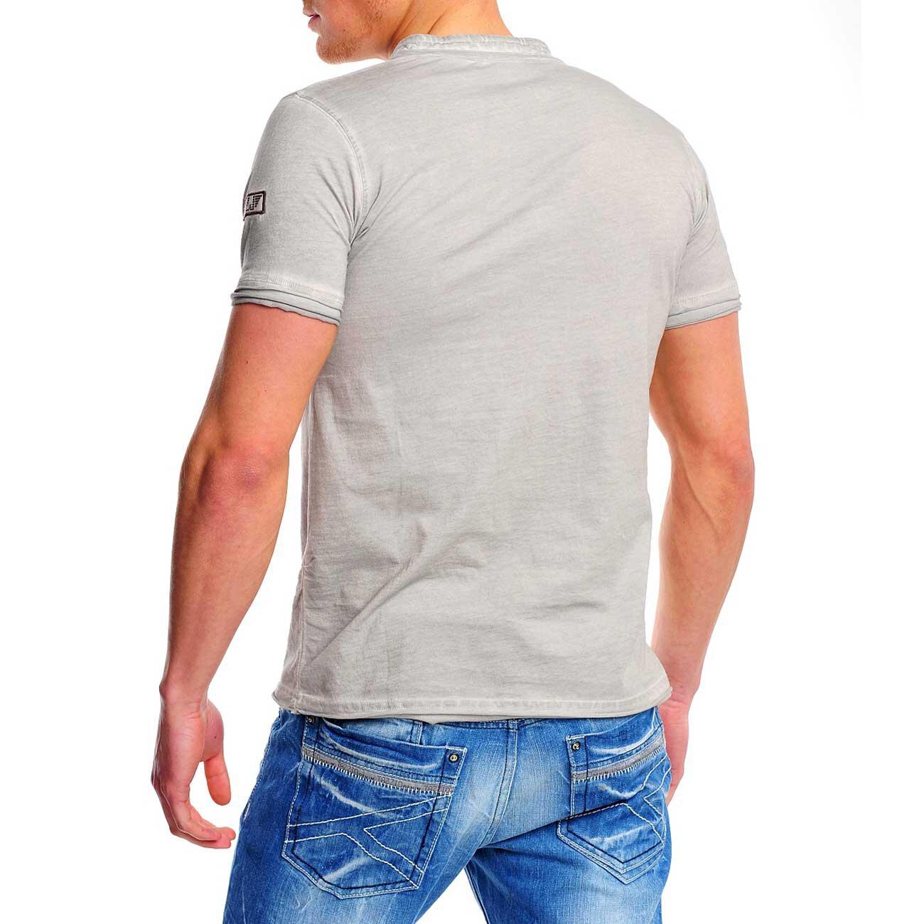 T-Shirt Herren Used Look V-Neck Reslad