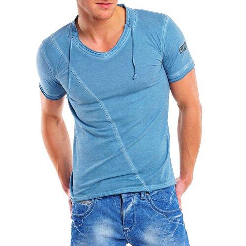 82a531d60e15 Reslad Herren Batik Style Used Look V-Neck T-Shirt 4019 ...