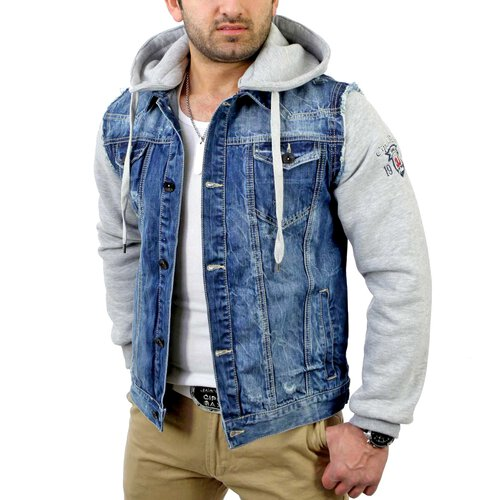 Cipo & Baxx Herren 2in1 Jeans Sweat Jacke C-1294